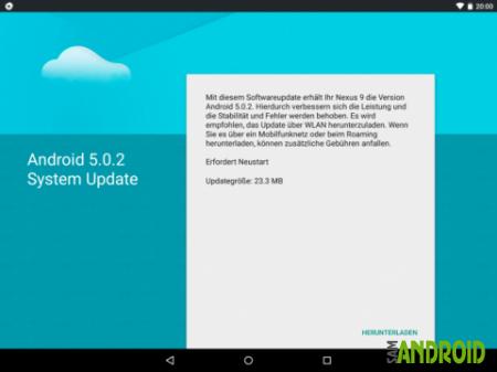 Google Nexus 9 получил обновление, но не Android 5.1